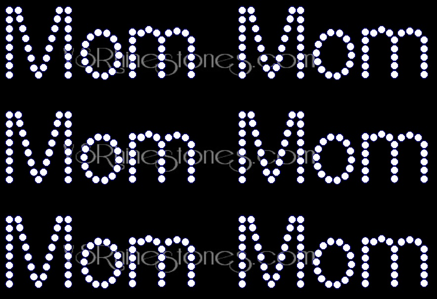Mom Rhinestone Transfer Add On (6)